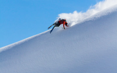 Tom Ritsch hand drag during Click On The Mountain competition in Courmayeur